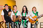 Pictured at the North Kerry finals of the Senior Scor which took place on Saturday night in Marian Hall, Moyvane were L-R: Tom Allen, Ballybunion, Betty Joyce, Beale, Orla Holly and Norma Mason, Ballybunion, all representing Beale Club in the Ceol Uirlise category.