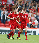 05.08.18 Aberdeen v Rangers: Bruve Anderson celebrates his late goal for Aberdeen