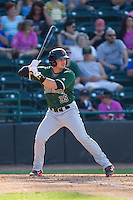 Jeremy Sy (25) of the Augusta GreenJackets at bat against the Hickory Crawdads at L.P. Frans Stadium on May 11, 2014 in Hickory, North Carolina.  The GreenJackets defeated the Crawdads 9-4.  (Brian Westerholt/Four Seam Images)