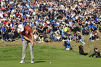 Alex Noran (Team Europe) putts on the 9th green during Saturday's Foursomes Matches at the 2018 Ryder Cup 2018, Le Golf National, Ile-de-France, France. 29/09/2018.<br /> Picture Eoin Clarke / Golffile.ie<br /> <br /> All photo usage must carry mandatory copyright credit (© Golffile | Eoin Clarke)