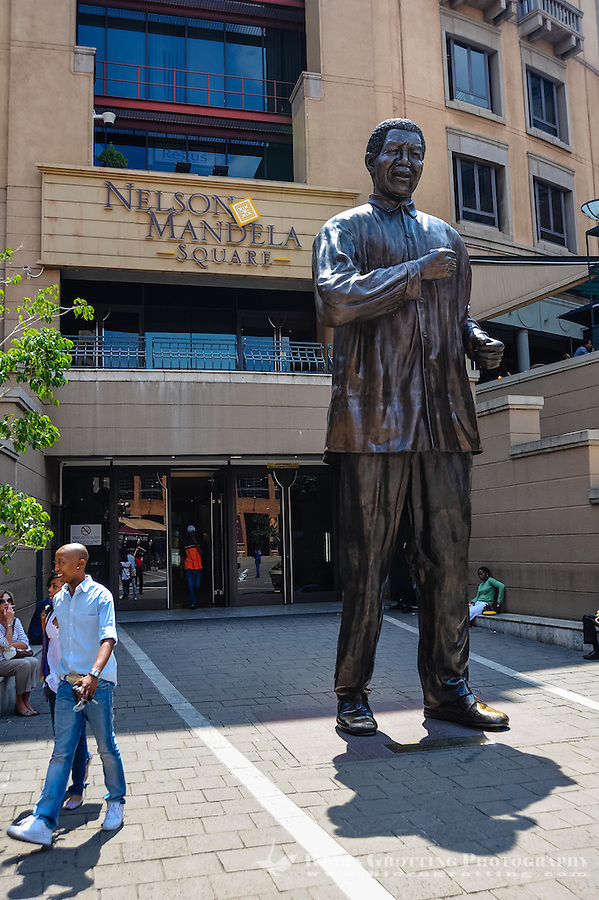 Nelson Mandela Square in Sandton, a rich suburb to Johannesburg, the largest city in South Africa.