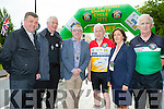 Officially starting the Ring of Kerry cycle in Killarney on Saturday morning were l-r: Fr Kieran O'Brien, Bishop Ray Browne, Killarney Mayor Bobby O'Connell, Minister Jimmy Deenihan, Kate O'Leary Killarney Chamber of Commerce Chairperson and Cathal Walsh race organiser