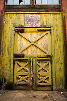 Industrial textures and abstracts - Foundry Door in Green