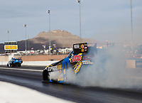 Oct 30, 2016; Las Vegas, NV, USA; NHRA funny car driver Matt Hagan during the Toyota Nationals at The Strip at Las Vegas Motor Speedway. Mandatory Credit: Mark J. Rebilas-USA TODAY Sports
