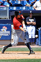 State College Spikes infielder Ashley Ponce #14 during a game against the Staten Island Yankees at Richmond County Bank Ballpark at St. George on July 14, 2011 in Staten Island, NY.  Staten Island defeated State College 6-4.  Tomasso DeRosa/Four Seam Images