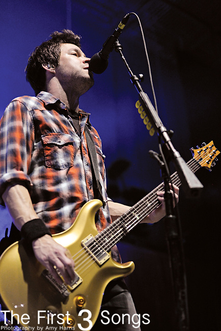 Pete Loeffler of Chevelle performs at PNC Pavilion at Riverbend Music Center in Cincinnati, Ohio on October 7, 2011.