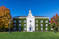 Battell Hall, Middlebury College campus, Middlebury, Vermont, USA.