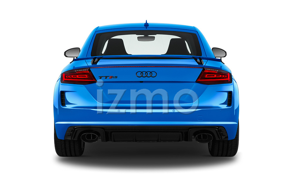 Straight rear view of a 2019 Audi TT RS Base 3 Door Coupe stock images