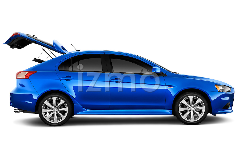 Passenger side profile view of a 2012 Mitsubishi Lancer Sportback GT.