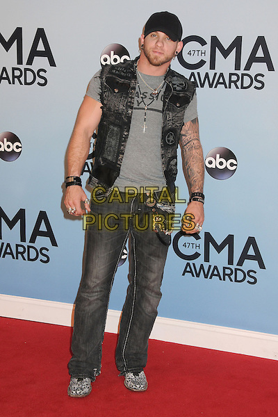NASHVILLE, TENNESSEE - NOVEMBER 06: Brantley Gilbert  at the 47th CMA Awards, Country Music's Biggest Night, held at Bridgestone Arena on November 6th, 2013 in Nashville, Tennessee, USA.<br /> CAP/ADM/BP<br /> &copy;Byron Purvis/AdMedia/Capital Pictures