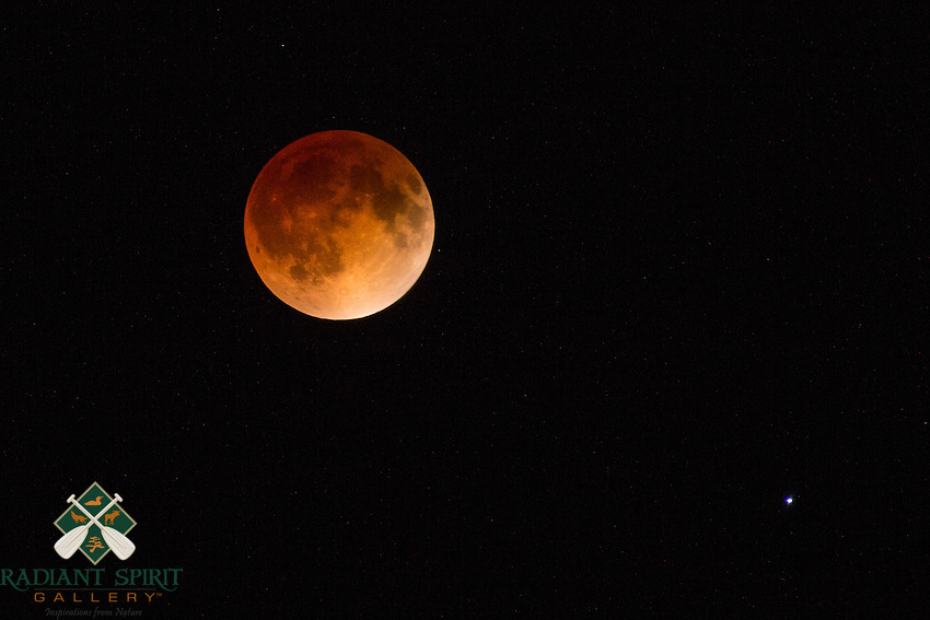 &quot;Blood Red Moon&quot;<br /> <br /> The total lunar eclipse on 4/15/2014 produced what is called a &quot;Blood Red Moon&quot;.<br /> ~ Day 27 of Inspired by Wilderness: A Four Season Solo Canoe Journey