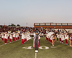 September 21, 2017. Durham, North Carolina.<br /> <br /> North Carolina Central University Sound Machine Marching Band takes the field to open the game. <br /> <br /> The NCCU Eagles won a home game against the the South Carolina State Bulldogs 33-28 at O'Kelly–Riddick Stadium.