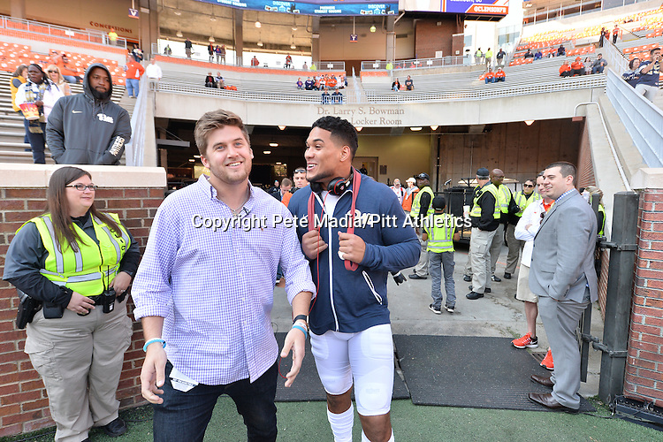 PITTSBURGH, PA, NOV 12: The Pitt football team travels to take on #2 Clemson at Memorial Stadium in Clemson, South Carolina on November 12, 2016.<br /> Photographer: Pete Madia/Pitt Athletics