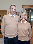 Lady Captain Sandra Kierans pictured with her husband Noel at the Captain's Drive in at Seapoint Golf Club. Photo:Colin Bell/pressphotos.ie