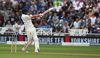 England's Joe Root hits a boundary of the bowling of  South Africa's Morne Morkel<br /> <br /> Photographer Stephen White/CameraSport<br /> <br /> Investec Test Series 2017 - Second Test - England v South Africa - Day 2 - Saturday 15th July 2017 - Trent Bridge - Nottingham<br /> <br /> World Copyright &copy; 2017 CameraSport. All rights reserved. 43 Linden Ave. Countesthorpe. Leicester. England. LE8 5PG - Tel: +44 (0) 116 277 4147 - admin@camerasport.com - www.camerasport.com