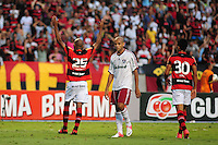 ATENCAO EDITOR: FOTO EMBARGADA PARA VEÍCULOS INTERNACIONAIS. - RIO DE JANEIRO, RJ, 30 DE SETEMBRO DE 2012 - CAMPEONATO BRASILEIRO - FLAMENGO X FLUMINENSE - Wellington Silva #25, jogador do Flamengo, comemora a marcacao do penalti, durante partida contra o Fluminense, pela 27a rodada do Campeonato Brasileiro, no Stadium Rio (Engenhao), na cidade do Rio de Janeiro, neste domingo, 30. FOTO BRUNO TURANO BRAZIL PHOTO PRESS