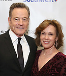 Bryan Cranston and Robin Dearden during a reception for Theatre Forward's Chairman's Awards Gala at the Pierre Hotel on April 8, 2019 in New York City.