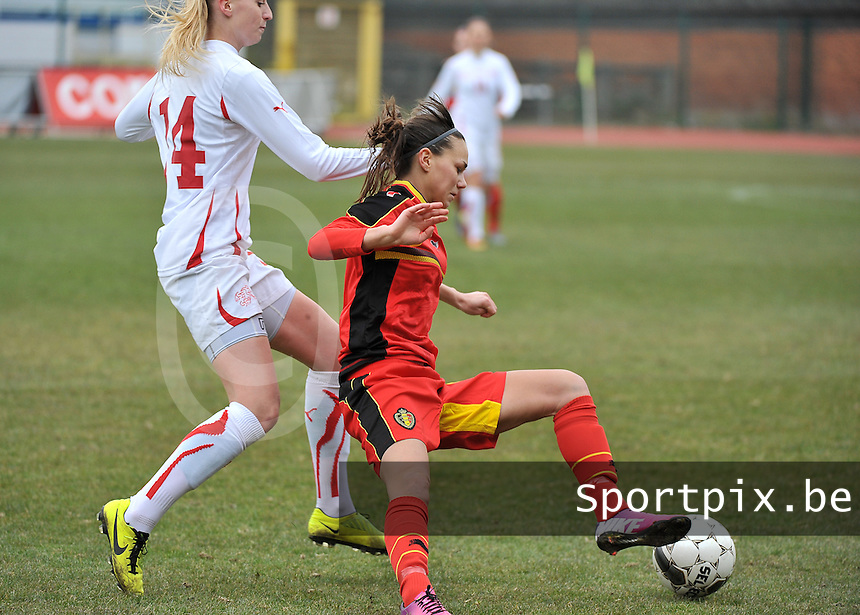 Belgium U19 - Switzerland U19 : Jassina Blom (right).foto DAVID CATRY / Nikonpro.be