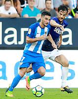 Malaga CF's Juankar Perez (l) and SS Lazio's Marco Parolo during XXXIII Costa del Sol Trophy. August 5,2017. (ALTERPHOTOS/Acero/Insidefoto)