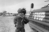 - operation Alba of Italian Armed Forces after the civil war of spring 1997, Bersaglieri soldiers patrols Valona<br /> <br /> - operazione Alba delle forze armate italiane dopo la guerra civile della primavera 1997, Bersaglieri  pattugliano Valona