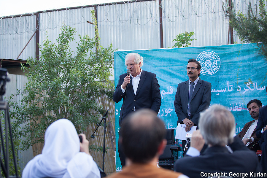 Tenth Anniversary celebrations of Afghan PEN William Nygaard, head of Norwegian PEN and Veteran publisher, at the tenth anniversary of Afghan PEN in Kabul.