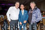 Niall O'Callaghan, Cllr Sam Locke (Deputy Mayor of Tralee) and Gerry Saunders enjoying the Bon Jovee fundraiser in the Brandon Hotel on Saturday.