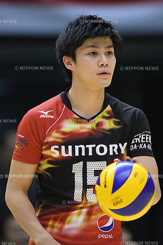 Yu Yamamoto (), <br /> DECEMBER 18, 2016 - Volleyball : <br /> All Japan Men's Volleyball Championships <br /> Quarter-final match <br /> between Suntory Sunbirds 3-0 Panasonic Panthers<br /> at Tokyo Metropolitan Gymnasium, Tokyo, Japan. <br /> (Photo by AFLO SPORT)