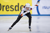 1st February 2019, Dresden, Saxony, Germany; World Short Track Speed Skating; 1000 meters men in the EnergieVerbund Arena. Robin Tenzer from Germany on the track.