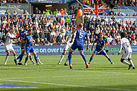 Ben Wilmot of Swansea City (C) scores the opening goal with a header during the Sky Bet Championship match between Swansea City and Cardiff City at the Liberty Stadium, Swansea, Wales, UK. Sunday 27 October 2019