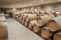 barrel aging cellar chateau reysson haut medoc bordeaux france