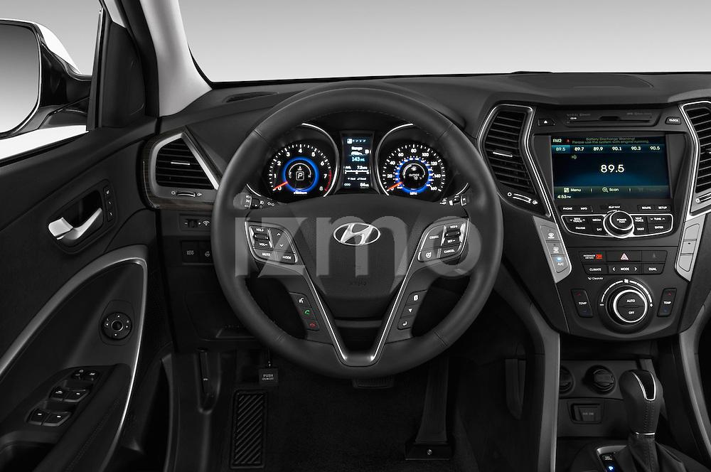 Car pictures of steering wheel view of a 2014 Hyundai Santa Fe GLS 5 Door SUV Steering Wheel