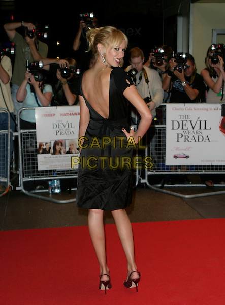 "KIMBERLEY STEWART.""The Devil Wears Prada"" screening arrivals.Odeon West End cinema, Leicester Square.London England 21st October 2006.Ref: AH.full length bare back over shoulder.www.capitalpictures.com.sales@capitalpictures.com.©Adam Houghton/Capital Pictures."