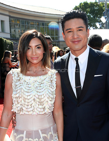 PASADENA, CA - April 30: Courtney Laine Mazza, Mario Lopez, At 44th Annual Daytime Emmy Awards Roaming At The Pasadena Civic Auditorium In California on April 30, 2017. Credit: FS/MediaPunch