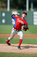 Jesse Roth #16 of the Harace Mann School in Oradell, New Jersey playing for the Philadelphia Phillies scout team during the East Coast Pro Showcase at Alliance Bank Stadium on August 2, 2012 in Syracuse, New York.  (Mike Janes/Four Seam Images)