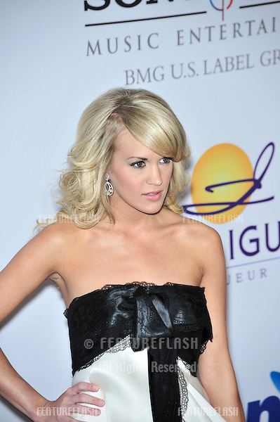 Carrie Underwood at music mogul Clive Davis' annual pre-Grammy party at the Beverly Hilton Hotel..February 9, 2008  Los Angeles, CA.Picture: Paul Smith / Featureflash