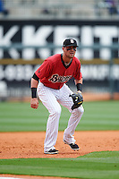 Birmingham Barons third baseman Trey Michalczewski (8) during a game against the Pensacola Blue Wahoos on May 2, 2016 at Regions Field in Birmingham, Alabama.  Pensacola defeated Birmingham 6-3.  (Mike Janes/Four Seam Images)