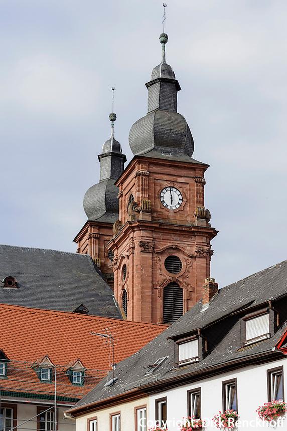 Katholische Kirche St.Gangolf in Amorbach im Odenwald, Bayern, Deutschland