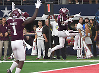 NWA Democrat-Gazette/J.T. WAMPLER Texas A&M's Trayveon Williams scores against the Hogs Saturday Sept. 29, 2018 at AT&T Stadium in Arlington. The Aggies beat the Razorbacks 24-17.