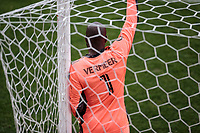 LOS ANGELES, CA - MARCH 01: GK Kenneth Vermeer #1 of LAFC yells out directions during a game between Inter Miami CF and Los Angeles FC at Banc of California Stadium on March 01, 2020 in Los Angeles, California.