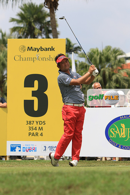 Yuta Ikeda (JPN) in action on the 3rd tee during Round 1 of the Maybank Championship at the Saujana Golf and Country Club in Kuala Lumpur on Thursday 1st February 2018.<br /> Picture:  Thos Caffrey / www.golffile.ie<br /> <br /> All photo usage must carry mandatory copyright credit (© Golffile | Thos Caffrey)