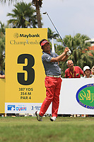 Yuta Ikeda (JPN) in action on the 3rd tee during Round 1 of the Maybank Championship at the Saujana Golf and Country Club in Kuala Lumpur on Thursday 1st February 2018.<br /> Picture:  Thos Caffrey / www.golffile.ie<br /> <br /> All photo usage must carry mandatory copyright credit (&copy; Golffile | Thos Caffrey)