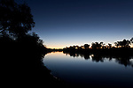 Warburton River from Cowarie Station at sundown.