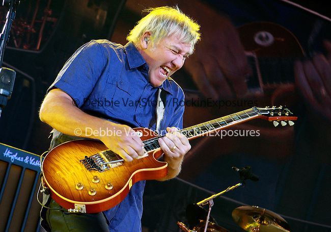 """Alex Lifeson of RUSH performs live at the opening night of """"An Evening with RUSH"""" Tour held at Hard Rock Casino Pavillion in Albuquerque, New Mexico on June 29,2010                                                                   Copyright 2010  Rod Tanaka / RockinExposures"""