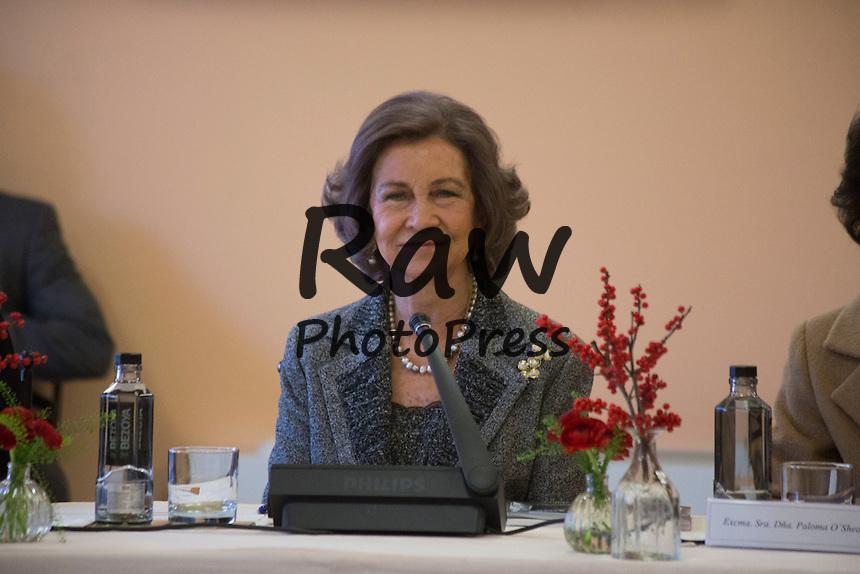 La Reina Do&ntilde;a Sof&iacute;a ha presidido la reuni&oacute;n del Patronato de la Escuela Superior de M&uacute;sica Reina Sof&iacute;a en Madrid junto con la alcaldesa de la ciudad, Manuela Carmena, y el pol&iacute;tico Alberto Ruiz Gallard&oacute;n.<br /> <br /> Queen Sofia has attended a meeting of Queen Sofia Music School Board along with Madrid mayor Manuela Carmena and former Minister for Justice Alberto Ruiz Gallardon in Madrid on December 11th, 2015.