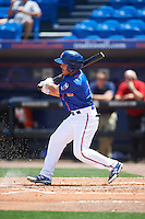 St. Lucie Mets Patrick Biondi (5) at bat during a game against the Brevard County Manatees on April 17, 2016 at Tradition Field in Port St. Lucie, Florida.  Brevard County defeated St. Lucie 13-0.  (Mike Janes/Four Seam Images)