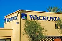 Wachovia Bank Building Vignette, Architectural, Commercial, Building, Exterior, Vignette, colorful, design, architecture,