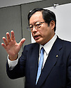 July 27, 2016, Tokyo, Japan - Vice President Koji Ikeya of Japan's Mitsubishi Motors answers reporters questions following a briefing on the automakers April-June group operating profit at its head office in Tokyo on Wednesday, July 27, 2016. Mitsubishi Motors reported a 75 percent drop in first-quarter operating profit as domestic sales of mini-vehicles plunged in the wake of the companys fuel efficiency data scandal. (Photo by Natsuki Sakai/AFLO) AYF -mis-