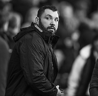 Twickenham, United Kingdom. Enfland tight head prop, Alex CORBISIERO, on pundit duty at the  the Old Mutual Wealth Series Rest Match: England vs Australia, at the RFU Stadium, Twickenham, England, <br /> <br /> Saturday  03/12/2016<br /> <br /> [Mandatory Credit; Peter Spurrier/Intersport-images]