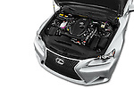 Car Stock 2016 Lexus IS F Sport Line 4 Door Sedan Engine  high angle detail view