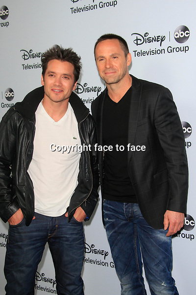 PASADENA, CA - JAN 17: Dominic Zamprogna, William deVry at the ABC/Disney TCA Winter Press Tour party at The Langham Huntington Hotel on January 17, 2014 in Pasadena, CA<br />